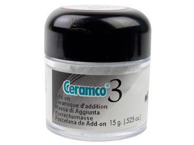 Ceramco 3 White Add-on Porcelain,  15gm