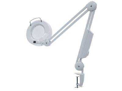 Illuminated Magnifying Lamp With   Fluorescent Tube And Round Lens    does Not Include Lens Cover