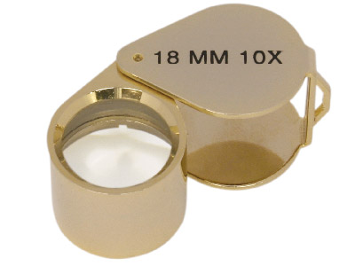 Loupe Gold Coloured In Case X10    Magnification