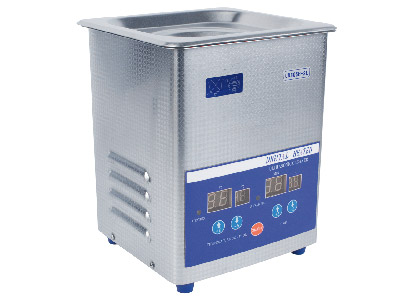 Ultrasonic 2 Litre Heated With      Digital Timer Temperature Control Basket And Lid