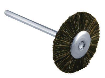 Medium Soft Grey Bristle Wheel -   21mm