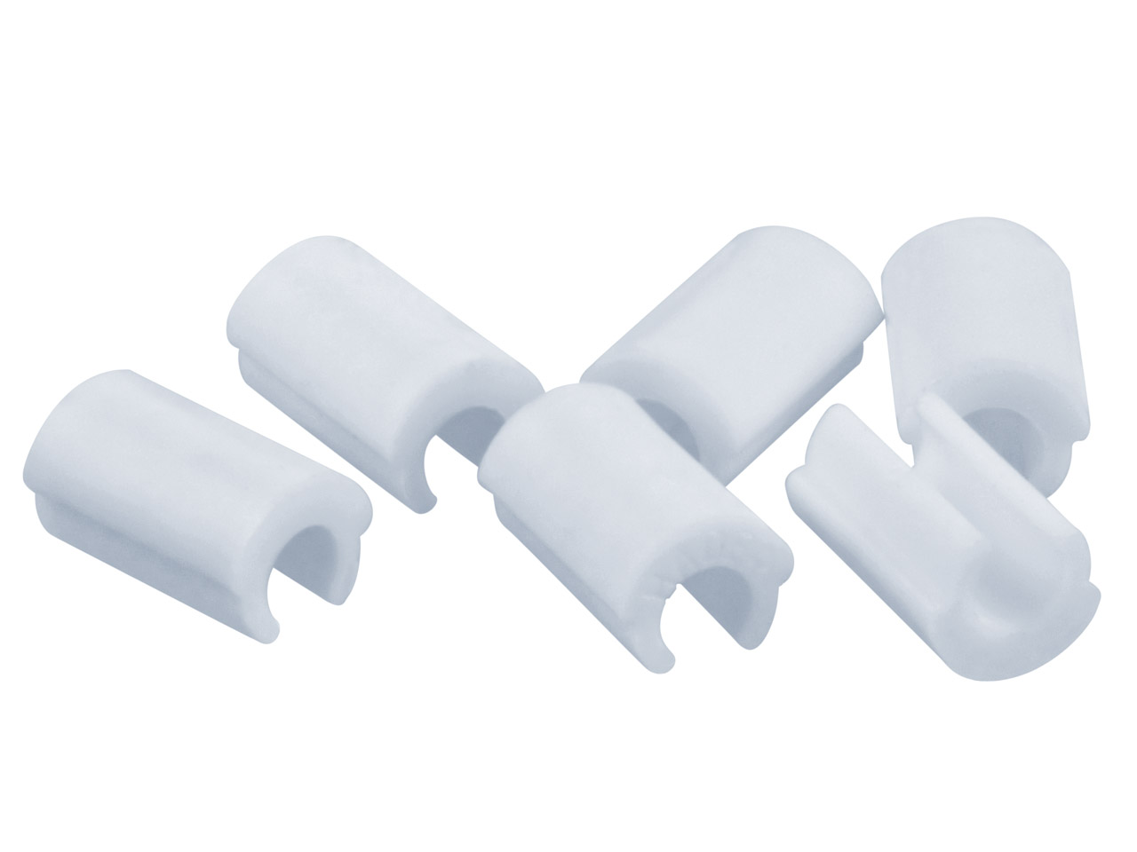 Hader Bar Female Retention Clips - White-light, Nylon 6