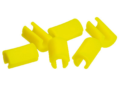 Hader Bar Female Retention Clips - Yellow-moderate, Nylon 6