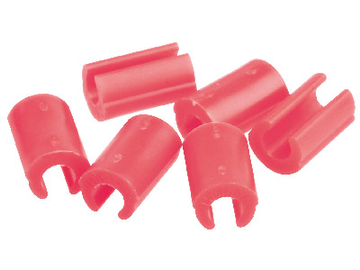 Hader Bar Female Retention Clips - Red-heavy, Nylon 6