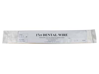 17ct Platinised Dental Wire 0.8mm  Diameter