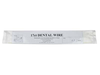 17ct Platinised Dental Wire 0.9mm  Diameter